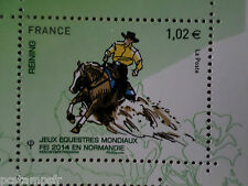FRANCE 2014, timbre CHEVAL, HORSE, JEUX, REINING, neuf**, VF MNH STAMP