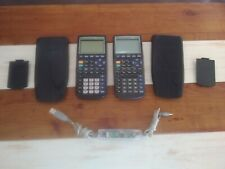 2 Texas Instruments TI-83 Plus Graphing Calculators Tested w/ USB Graph Cable