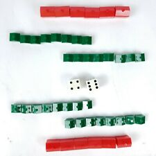 Monopoly 1978 Edition Replacement Dice Red Hotel Green House Pieces