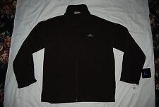 New Dark Brown DENALI Brand Zip Front Fleece Lined Jacket Large
