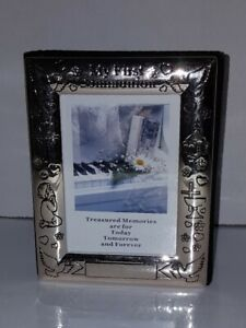 Vintage Silver Plated First Communion Picture Frame Photo Album 36 2-Sided Slots