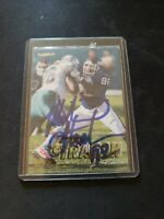 Michael Strahan 1997 Fleer Signed #323 Rare New Mint Football HOF NY Giants