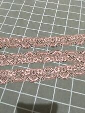 1.5 Meters Nude Pink embroidery ribbon Lace Craft bow Doll trim Dress Sewing 4cm