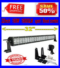 32 Inch 180w LED Light Bar Spot Flood Work Lamp 4WD Boat UTE Driving ATV Truck
