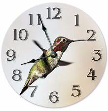 "10.5"" ANNA'S HUMMINGBIRD CLOCK - Large 10.5"" Wall Clock - Home Décor Clock- 3011"