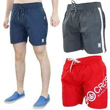 Crosshatch Mens Swim Shorts Mesh Line Summer Beach Swimwear Trunks Sizes S - 2XL