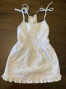Martha Stewart Pets Dress Size Large Light Blue White Lace Spring Clothes