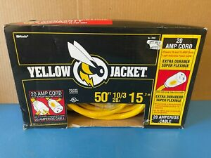 Yellow Jacket 50-ft. Outdoor Extension Cord 20 amp 10/3 RV Camp Outdoor