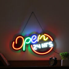 """24""""x13"""" Open 24Hrs Led Neon Sign Light Display Store Cafe Bar Club Wall Decor"""