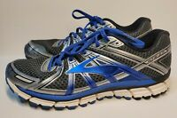 Brooks GTS 17 Gray Silver Blue, Mens Running Shoes, 1102411D017, Size 11