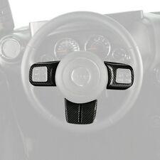 Carbon Fiber Inner ABS Steering Wheel Trim Cover For Jeep Wrangler JK 2011-2017