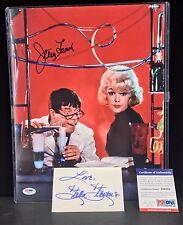 Jerry Lewis Signed 11x14 PSA/DNA Stella Stevens 3x5 Card Autographed Signature