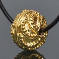 9.90mm Gold Vermeil Sterling Silver Bali Granulation Bead 18K Gold-Plated 1.65g