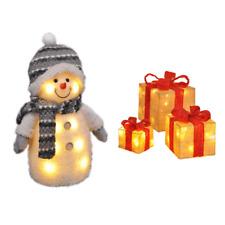 Décoration de Noël Set Déco Bonhomme de Neige Et Illuminé Coffrets Cadeaux,