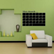 PVC Monthly Planner Calendar Blackboard Removable Wall Sticker Chalk Board Decal