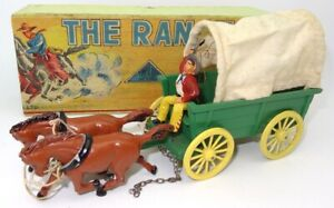 """TIMPO TOYS """"THE RANCH"""" BOXED COWBOY SET - A/MINT & RARE"""