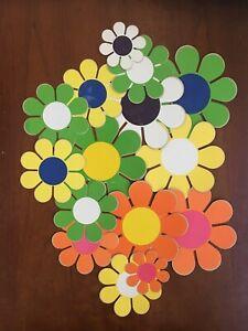 Set of 15 Vintage 1960s Flower Power Hippie Sticker Groovy Decals