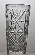 BEAUTIFUL DESIGN LEAD CRYSTAL CUT GLASS VASE - 16 CM TALL