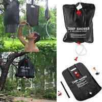 Portable 20L Solar Heated Camping Shower Outdoor Camp Hiking PVC Water Bag New