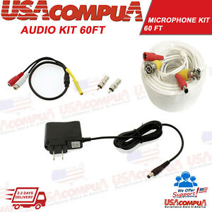 Microphone Audio Kit for Security Camera System High Sensitive