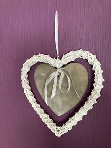 Wooden Rustic Shabby Chic Hanging Heart Home Decor