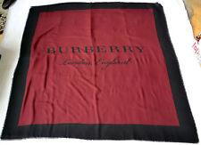 BURBERRY XXL SCHAL TUCH SCARF Carré платок WOLLE KASCHMIR SEIDE 140x140 UVP 379€
