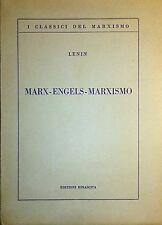 VLADIMIR ILIC LENIN MARX ENGELS MARXISMO EDIZIONI RINASCITA 1952