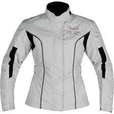 Nitro N-72 Ladies Rebecca Motorcycle Jacket Size 14 Grey Winter Waterproof Bike