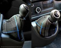 VW Transporter T6 INKA Gear Shift Knob Boot Gaiter Cover GTI Tartan Blue Cloth