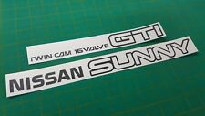 Nissan Sunny ZX  RZ-1 B12 GTi Coupe Replacement rear boot lid Decals Stickers