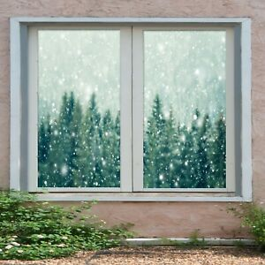 3D Pine Snowflake I41 Window Film Print Sticker Cling Stained Glass UV Block Ang