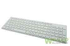 New White Universal Wireless Keyboard For iPad 1 2 3 4 Mac Computer PC Macbook