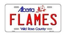 "Metal Vanity License Plate Tag Cover - Calgary Flames - Hockey Team - 12"" x 6"""