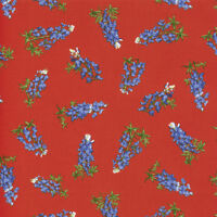 Moda Quilt Fabric Best of Texas by Sara Khammash by half-yard 11245 13 Red