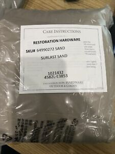 Restoration Hardware Provence Bucket Armchair Cover - #64990272 - Sand MSRP $130
