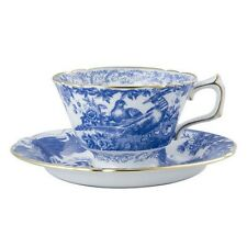 Royal Crown Derby Blue Aves teacup and saucer