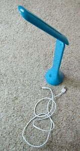 Turquoise Desk Lamp USB Cord to Computer for Power