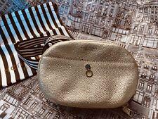 Henri Bendel About Town Webbing Strap Belt bag in metallic gold leather. New!!