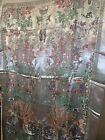 Vintage Chinese Scenic Silver Silk Brocade Panel Wall Hanging Tapestry 49 x  74