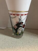 VINTAGE CIRCUS ELEPHANTS 12 OZ. WITH GOLD TRIM GLASS TUMBLER