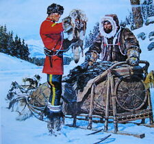 Canadian Mountie RCMP  Trapper Furs Dogs Sleg Arnold Friberg
