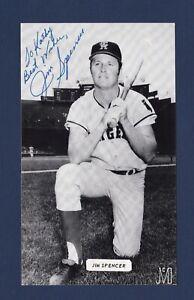 Jim Spencer signed California Angels vintage J.D. McCarthy baseball postcard