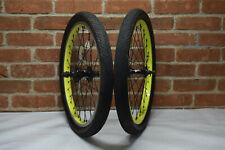 verde bmx wheels set 20'' 9t cassette yellow ( Eastern Fit Kink stolen odyssey )