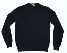 New Versace Maglia Scollo V-neck Sweater Men's Size LG Nero/Black Free Shipping