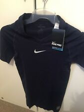 Nike Pro Dri-Fit Competition football Short Sleeve Baselayer - obsidian L