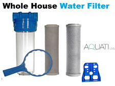 "High Flow Whole House Water Filter Dechlorinator Chlorine Removal 3/4""BSP 1 year"