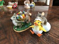 Fitz & Floyd Charming Tails - Happiness is Made to be Shared & Ducky to Meet You