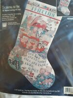 BUCILLA DECORATING THE ARK Counted Cross Stitch Stocking Kit sealed