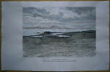 1886 Reclus print ANCIENT PORTS OF CARTHAGE, TUNISIA (#25)