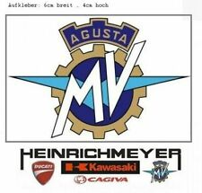 MV AGUSTA Sticker Aufkleber 6cm F4 Brutale MV-Logo